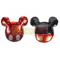 Cojin premium Disney Mickey Mouse con lentejuelas 30x30cm