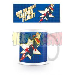 Taza cerámica Capitana Marvel - Alpha Flight