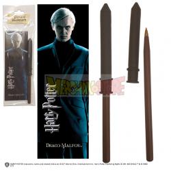 Varita bolígrafo Harry Potter con marca páginas - Draco Malfoy