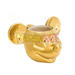 Taza cerámica Deluxe 3D Disney - Mickey dorada