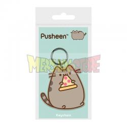 Llavero de goma Pusheen - Pizza