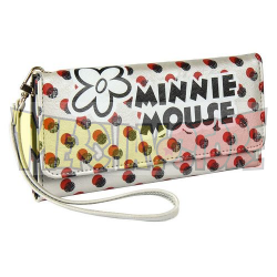 Cartera Minnie Mouse lunares con asa 19x9.5x1.5cm