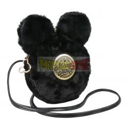 Bolso bandolera negro Mickey 18x18x5cm