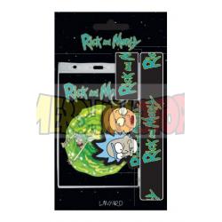 Llavero de goma + cinta Rick and Morty