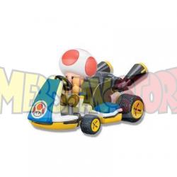Coche de cuerda con pegatinas Mario Kart 8 - Toad 5.5cm