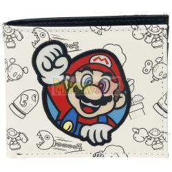 Cartera doble Nintendo - Super Mario blanca