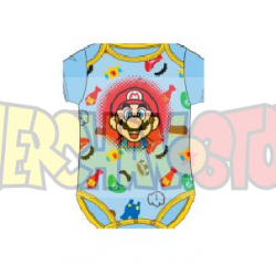 Body bebé Super Mario Bros multicolor 18 meses