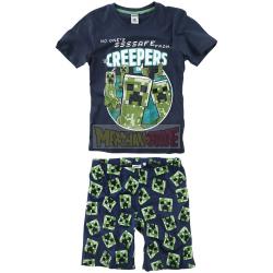 Pijama niño verano Minecraft - Creepers 10 años - 140cm