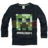 Camiseta niño manga larga Minecraft negra 10 años 140cm