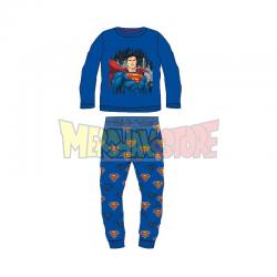 Pijama manga larga niño Superman azul 4 años - 104cm