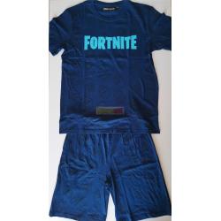 Pijama manga corta niño Fortnite azul 14 años - 164cm