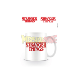Taza cerámica Stranger Things - Logo blanca 325ml