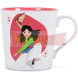 Taza cerámica Mulan - Part warrior part princess 330ml