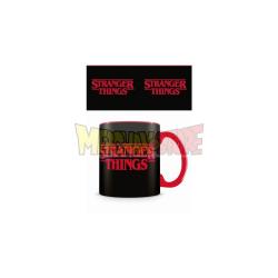 Taza cerámica Stranger Things - Logo negra 325ml