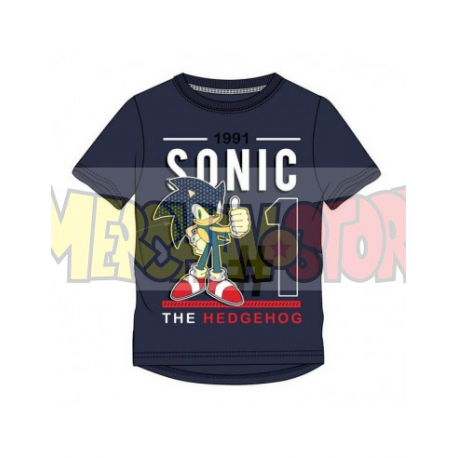 Camiseta niño Sonic - Nº1 1991 azul marino 6 años 116cm