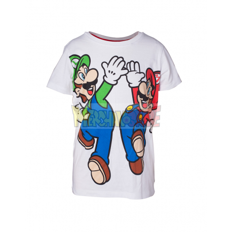 Camiseta Nintendo - Mario y Luigi 9 años 134cm - 10 años 140cm
