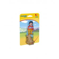 Playmobil 1.2.3 - 9256 Hombre con perro