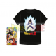 Camiseta adulto Dragon Ball Z - Vegeta negra Talla XL