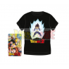Camiseta adulto Dragon Ball Z - Vegeta negra Talla XXL