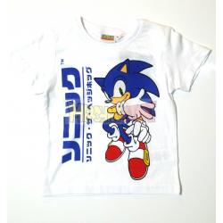Camiseta niño Sonic blanca 4 años 104cm