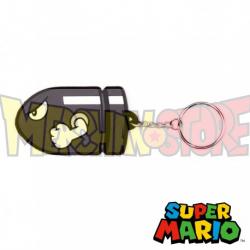 Llavero de goma Nintendo Super Mario - Bullet Bill 7cm