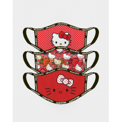 Pack de 3 mascarillas reutilizables Hello Kitty