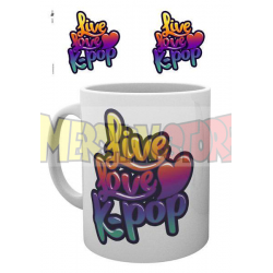 Taza cerámica K-Pop Live Love 300ml