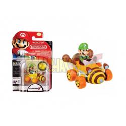 Figura Nintendo - Super Mario Racer Luigi 7cm con moneda