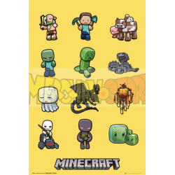 Póster Minecraft - Characters 61x91.50cm