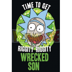 Póster Rick and Morty - Wrecked Son 61x91.50cm
