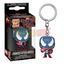 Llavero Funko Pocket POP! Marvel - Venom Capitán América
