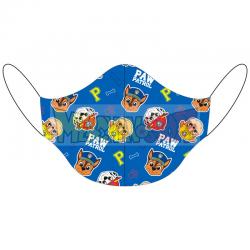 Mascarilla infantil reutilizable La Patrulla Canina azul