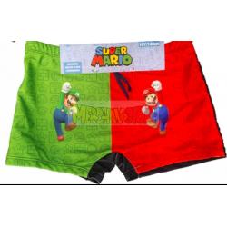 Bañador boxer niño Super Mario - Mario y Luigi 4 años 104cm