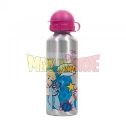 Botellín de aluminio Princesas Disney - Cenicienta y Ariel 520ml