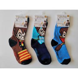Pack de tres calcetines niño Harry Potter Talla 35-38