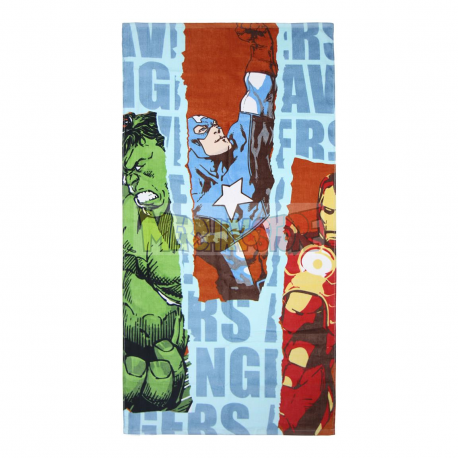 Toalla de algodón Marvel Avengers - Los Vengadores Hulk, Capitán América y Iron Man