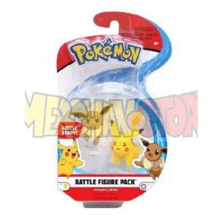 Pokémon Packs de 2 Minifiguras Battle Eevee & Pikachu 5 cm