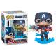 Figura Funko POP! Marvel - Capitán América w/Broken Shield & Mjölnir 573