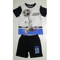 Pijama verano niño Captain Tsubasa - Campeones Oliver y Benji blanco - negro 8 años 128cm