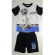 Pijama verano niño Captain Tsubasa - Campeones Oliver y Benji blanco - negro 10 años 140cm