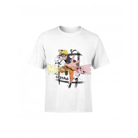 Camiseta infantil Naruto blanca 14 años 164cm