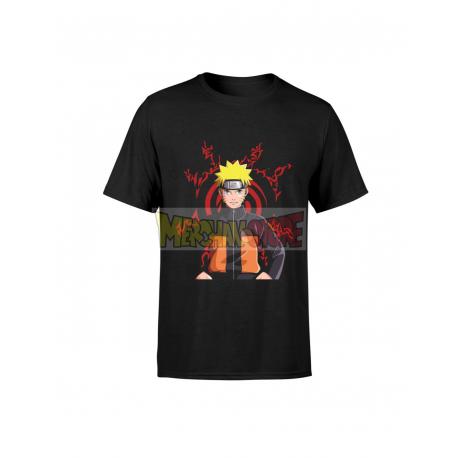 Camiseta infantil Naruto negra 6 años 116cm
