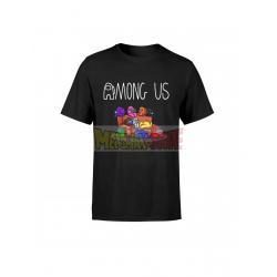 Camiseta infantil Among Us negra 4 años 104cm