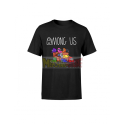 Camiseta infantil Among Us negra 8 años 128cm