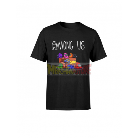 Camiseta infantil Among Us negra 10 años 140cm