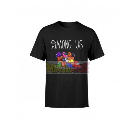 Camiseta infantil Among Us negra 14 años 164cm