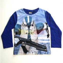 Camiseta niño manga larga Star Wars - Stormtrooper 10 años 140cm azul