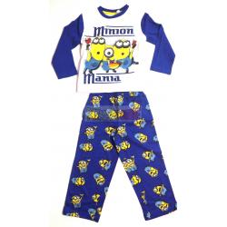 Pijama manga larga niño Minions - Minion manía 4 años 104cm azul