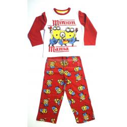 Pijama manga larga niño Minions - Minion manía 6 años 116cm rojo