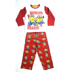 Pijama manga larga niño Minions - Minion manía 8 años 128cm rojo